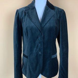 Gap black velvet blazer jacket lined cotton